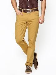 Blackberrys Men Mustard Yellow Sharp Fit Chino Trousers