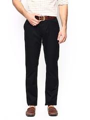 Blackberrys Men Black Sharp Fit Trousers
