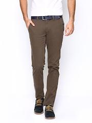 Blackberrys Men Brown Sharp Fit Trousers