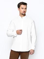 Blackberrys Men White Slim Fit Semi-Formal Shirt