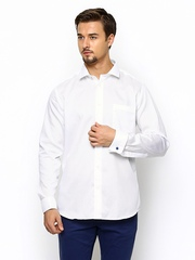 Blackberrys Men White Slim Fit Casual Shirt
