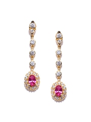 Bling Gold-Plated Silver Drop Earrings