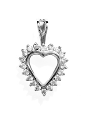 Bling Gold-Plated Sterling Silver Heart-Shaped Pendant