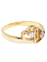 Bling Gold-Plated Sterling Silver Ring