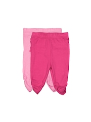 Bluezoo by Debenhams Infant Girls Set of 2 Pink Leggings
