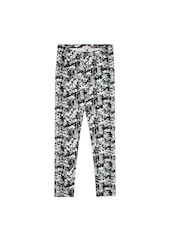 Bluezoo by Debenhams Girls Navy & White Printed Leggings