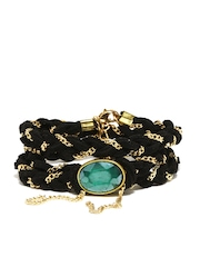 Blueberry Black & Gold Toned Bracelet