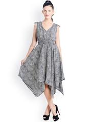 Bohemian You Black & White Printed Midi Dress