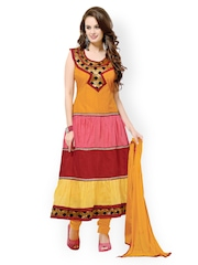 Bollywood Trends Multicoloured Semi-Stitched Dress Material