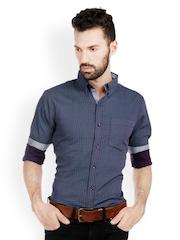 Bombay High Men Purple Printed Slim Fit Smart-Casual Shirt