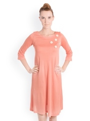 Bombay High Peach-Coloured Shift Dress