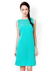 Bombay High Turquoise Blue Shift Dress