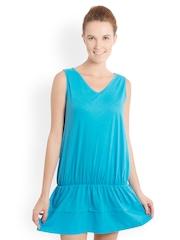 Bombay High Blue Blouson Dress