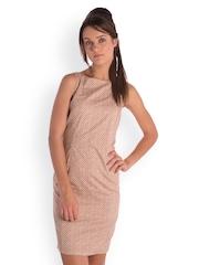 Bombay High Brown Printed Sheath Dress