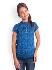 Bombay High Women Blue Printed Casual Shirt