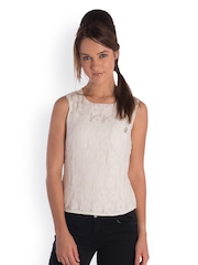 Bombay High Women Off-White Lace Top