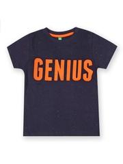 BonOrganik Boys Navy Printed T-shirt