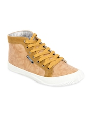 Brandley Men Yellow Leather Casual Shoes