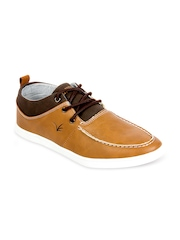 Brandley Men Brown Leather Casual Shoes