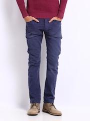 Breakbounce Men Blue Cubo Regular Fit Trousers