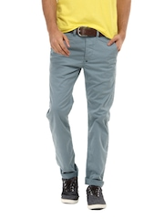 Breakbounce Men Boons Pale Blue Slim Fit Chinos