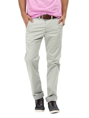 Breakbounce Men Grey Boons Slim Fit Chinos