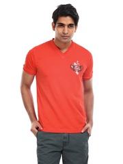 Breakbounce Men Hibiscus Red Dido T-Shirt