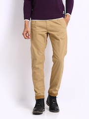 Breakbounce Men Khaki Storm Tapered Fit Trousers