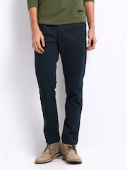 Breakbounce Men Navy Gurd Polite Hug Tapered Fit Trousers