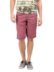 Breakbounce Men Plum Pink Astral Chino Shorts