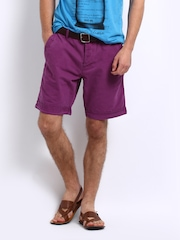 Breakbounce Men Purple Halo Tapered Fit Shorts