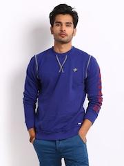 Breakbounce Men Benzo Blue Elite Buddy Regular Fit Sweatshirt