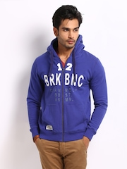 Breakbounce Men Benzo Blue Brisk Buddy Regular Fit Sweatshirt