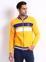 Breakbounce Men Yellow Vivid Buddy Hug Regular Fit Sweatshirt