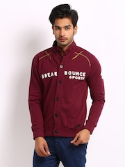Breakbounce Men Maroon Delta Buddy Regular Fit Sweatshirt