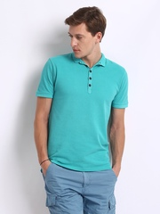 Breakbounce Men Blue Excelsior Bear Slim Fit Polo T-shirt
