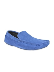 Bruno Manetti Men Blue Suede Loafers