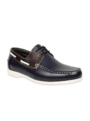 Bruno Manetti Men Coffee Brown & Black Boat Shoes