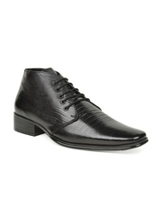 Bruno Manetti Men Black Leather Formal Shoes