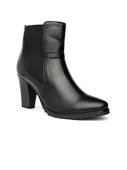Bruno Manetti Women Black Heeled Boots