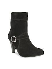 Bruno Manetti Women Black Suede Boots