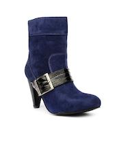 Bruno Manetti Women Blue Suede Boots
