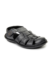 Buckaroo Men Black Solomon Sandals