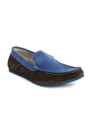 Buckaroo Men Blue and Brown Hazel Loafers