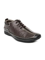 Men Brown Amanda NX Leather Casual Shoes Buckaroo