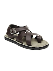 Buckaroo Men Brown Felipe Leather Sandals