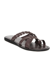 Buckaroo Men Brown Leather Sandals