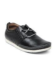 Buckaroo Men Black Barric Leather Casual Shoes