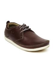 Men Brown Melania NX Leather Casual Shoes Buckaroo