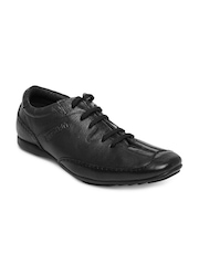 Buckaroo Men Black Leather Casual Shoes